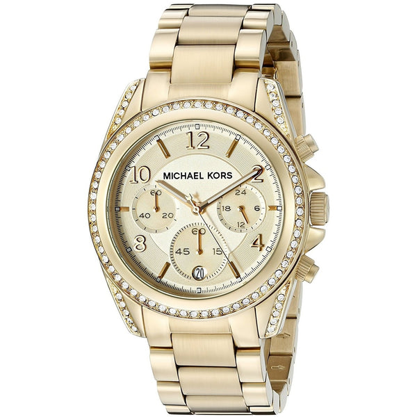Michael Kors Women's MK5166 'Runway' Chronograph Crystal Gold-tone Stainless Steel Watch
