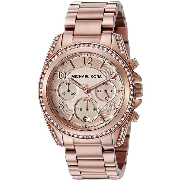 Michael Kors Women's MK5263 'Blair' Chronograph Crystal Rose-Tone Stainless Steel Watch