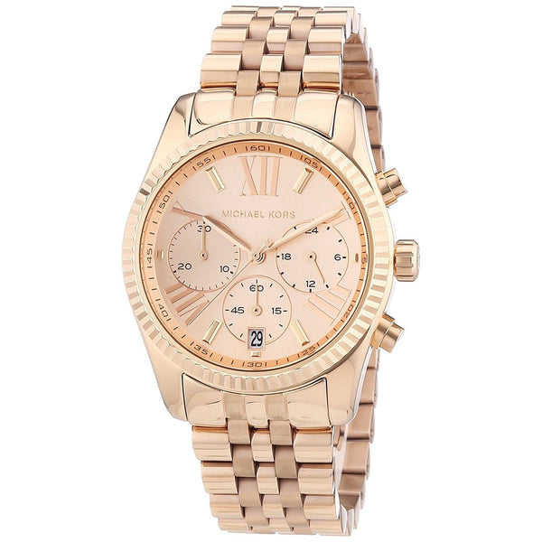 Michael Kors Women's MK5569 'Lexington' Chronograph Rose-Tone Stainless Steel Watch