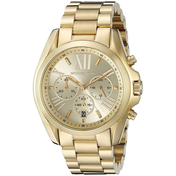 Michael Kors Women's MK5605 'Bradshaw' Chronograph Gold-Tone Stainless Steel Watch