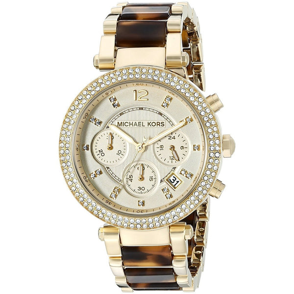 Michael Kors Women's MK5688 'Parker' Chronograph Crystal Two-Tone Stainless steel and Acetate Watch