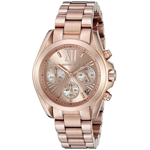 Michael Kors Women's MK5799 'Bradshaw' Chronograph Rose-Tone Stainless Steel Watch