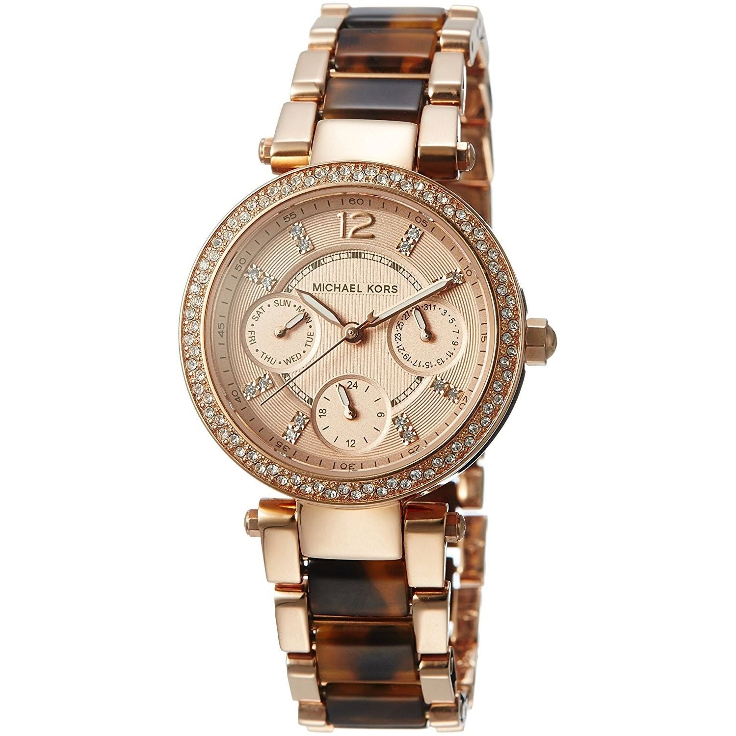 fb4a506f2bfd Michael Kors Women s MK5841  Parker  Chronograph Two-Tone Stainless Steel  Watch