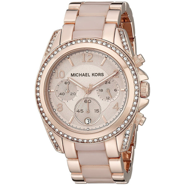 Michael Kors Women's MK5943 'Blair' Chronograph Crystal Two-Tone Stainless steel and Acetate Watch