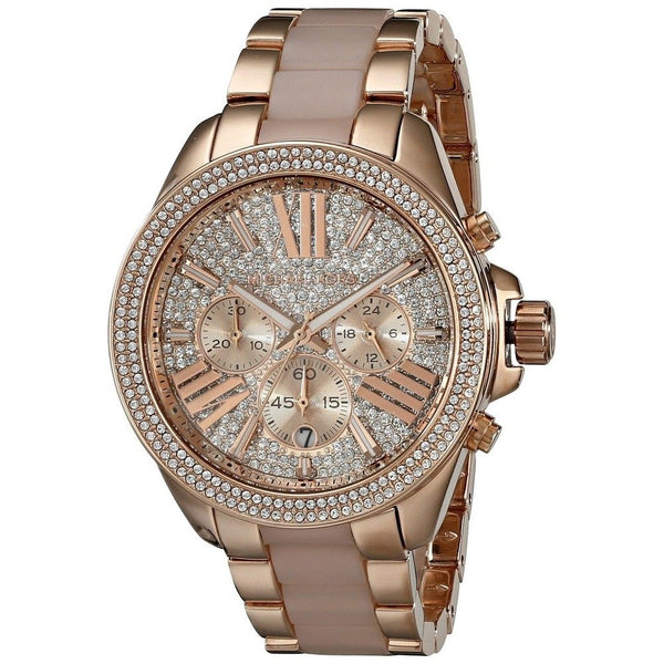 Michael Kors Women's MK6096 'Wren' Chronograph Rose-Tone Stainless Steel Watch