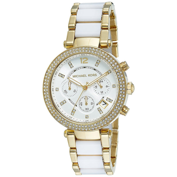 Michael Kors Women's MK6119 'Parker' Chronograph Two-Tone Stainless Steel Watch
