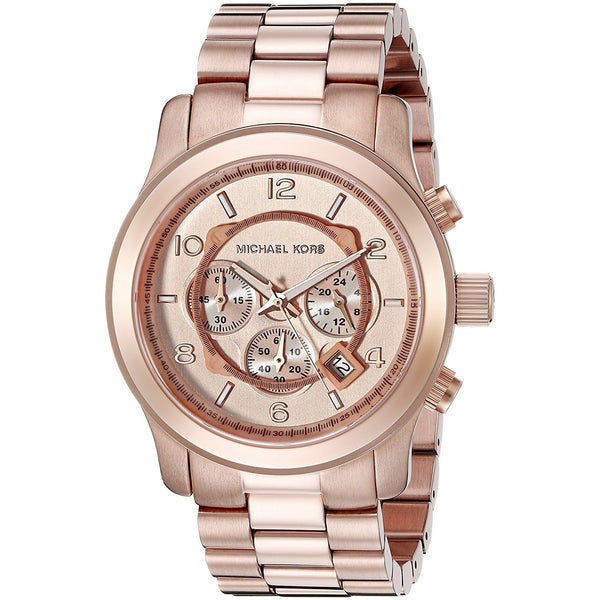 Michael Kors Men's MK8096 'Oversized Runway' Chronograph Rose-Tone Stainless Steel Watch