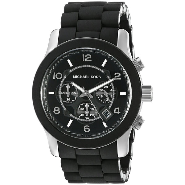 Michael Kors Men's MK8107 'Runway' Chronograph Black Silicone Watch