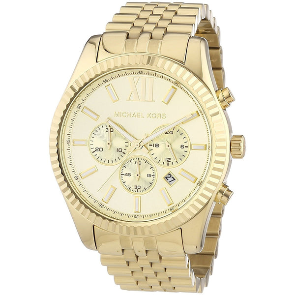 Michael Kors Men's MK8281 'Lexington' Chronograph Gold-Tone Stainless Steel Watch
