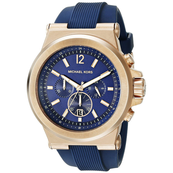 Michael Kors Men's MK8295 'Dylan' Chronograph Blue Silicone Watch