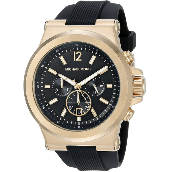 Michael Kors Men's MK8445 'Dylan' Chronograph Black Silicone Watch