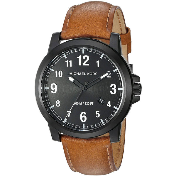 Michael Kors Men's MK8502 'Paxton' Brown Leather Watch