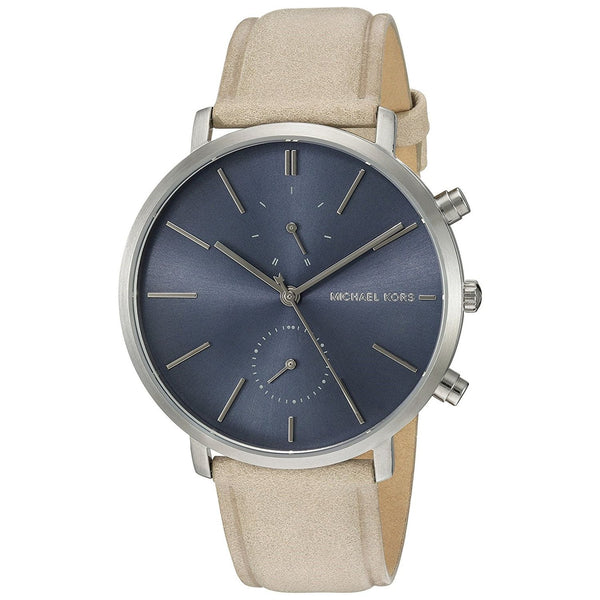 Michael Kors Men's MK8540 'Jaryn' Mutli-Function Beige Leather Watch
