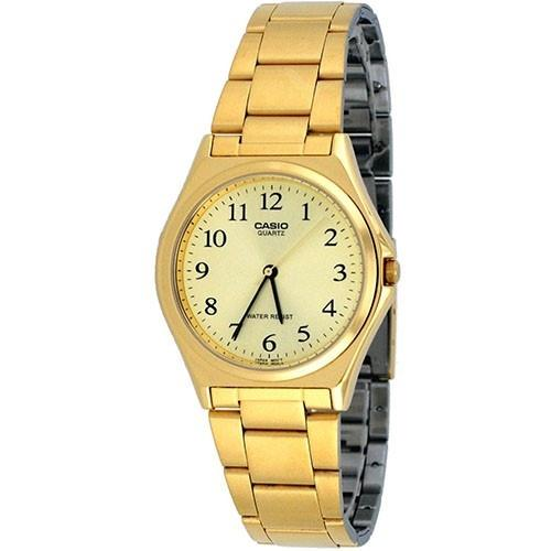 Casio Men's MTP-1130N-9B 'Classic' Gold-Tone Stainless Steel Watch
