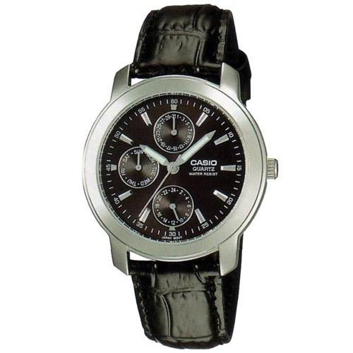 Casio Men's MTP-1192E-1A 'Classic' Chronograph Black Leather Watch