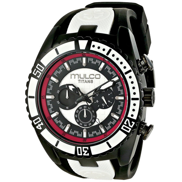 Mulco Unisex MW51836028 'Titan' Chronograph Black Rubber Watch