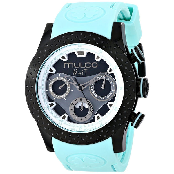 Mulco Unisex MW51962443 'Nuit Mia' Chronograph Blue Silicone Watch