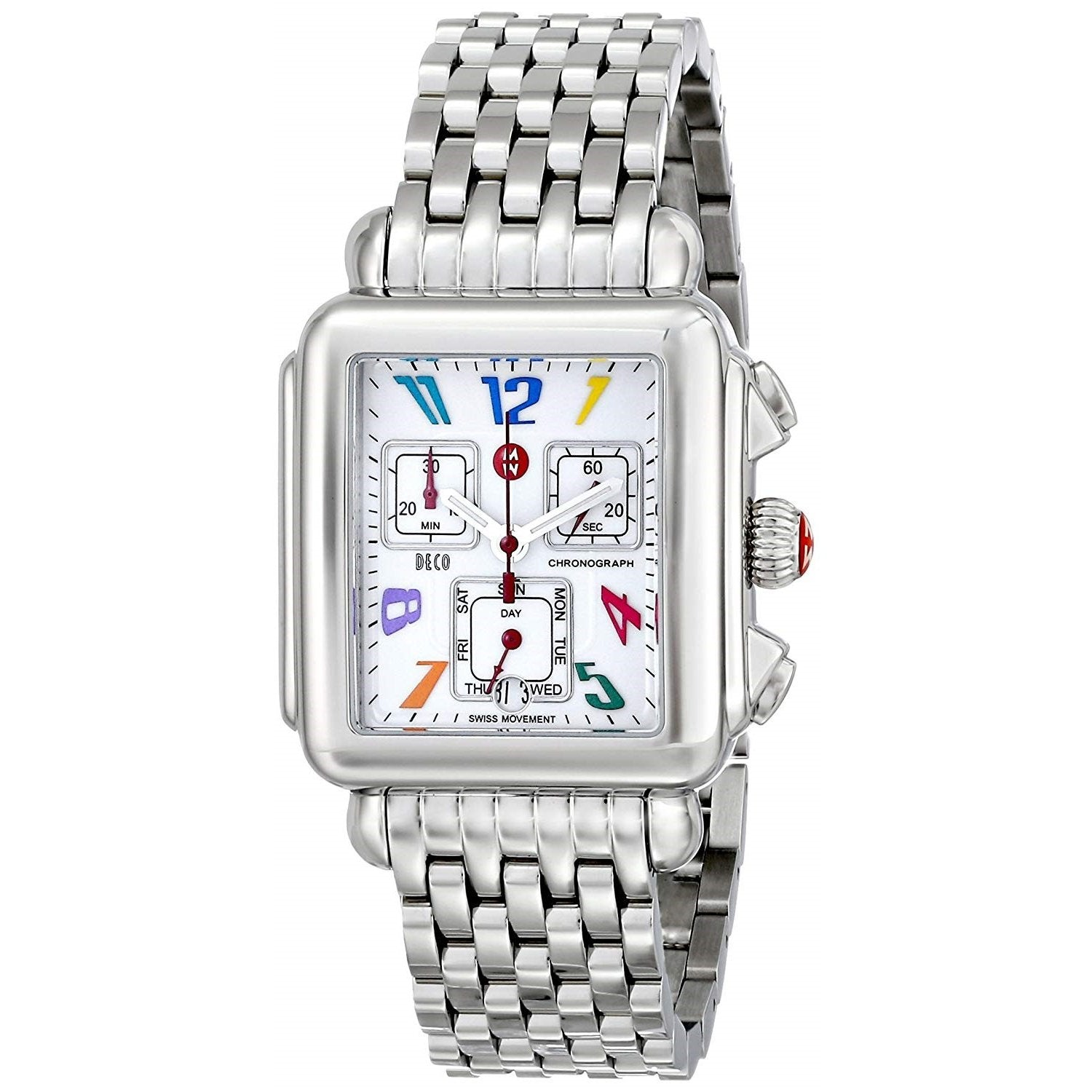 Mon Coach Deco michele women's mww06p000018 'signature deco carousel' chronograph  stainless steel watch