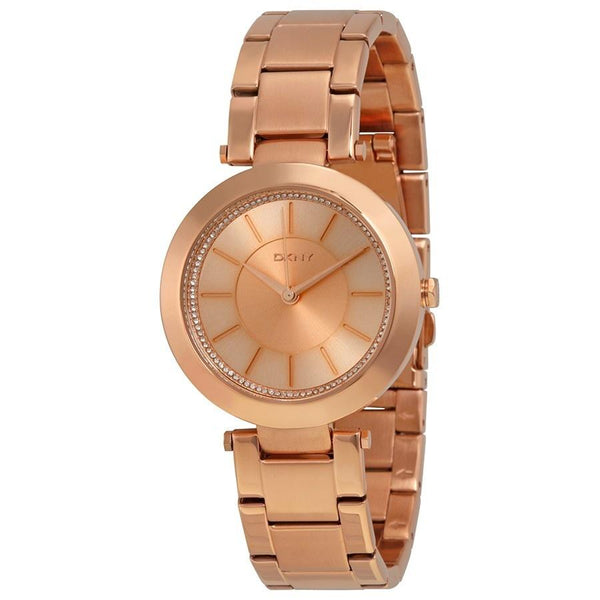 DKNY Women's NY2287 'Stanhope' Crystal Rose-Tone Stainless Steel Watch