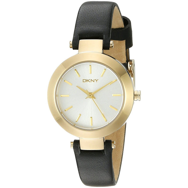 DKNY Women's NY2413 'Stanhope' Black Leather Watch