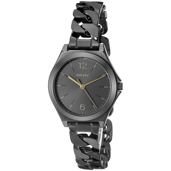 DKNY Women's NY2426 'Parsons' Black Stainless Steel Watch