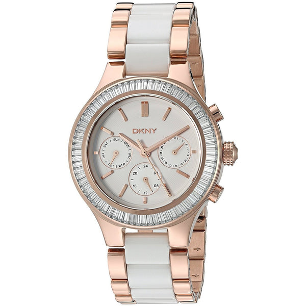 DKNY Women's NY2498 'Chambers' Multi-Function Two-Tone Stainless steel and Ceramic Watch