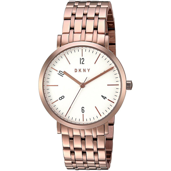 DKNY Women's NY2504 'Minetta' Rose-Tone Stainless Steel Watch