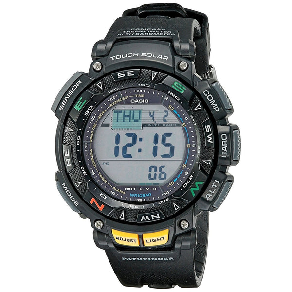 Casio Men's PAG240-1 'G-Shock Pathfinder' Digital Black Resin Watch