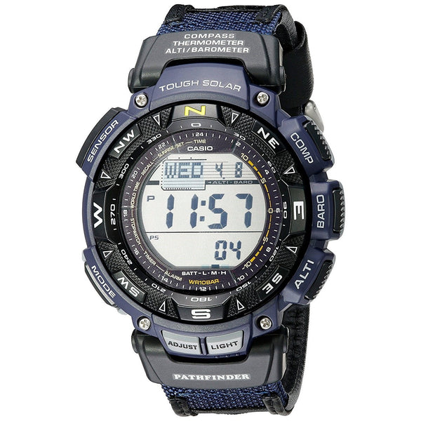 Casio Men's PAG240B-2 'G-Shock Pathfinder' Digital Blue Nylot Watch