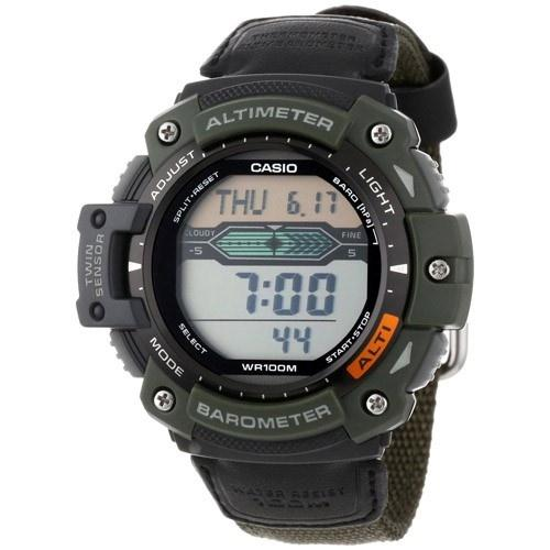 Casio Men's SGW-300HB-3AV 'Sport Gear' Digital Black Cloth Watch
