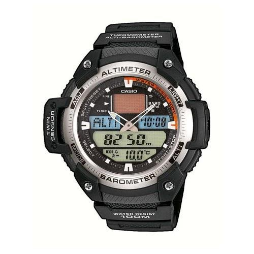 Casio Men's SGW-400H-1BV 'Sport Gear' Analog-Digital Black Rubber Watch