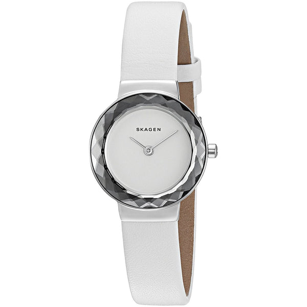 Skagen Women's SKW2424 'Leonora' White Leather Watch