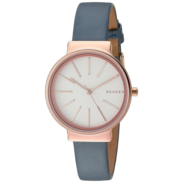 Skagen Women's SKW2482 'Ancher' Blue Leather Watch