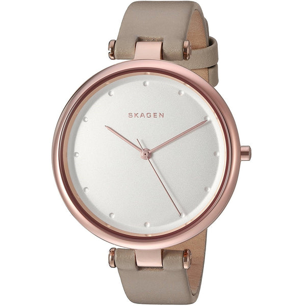 Skagen Women's SKW2484 'Tanja' Beige Leather Watch