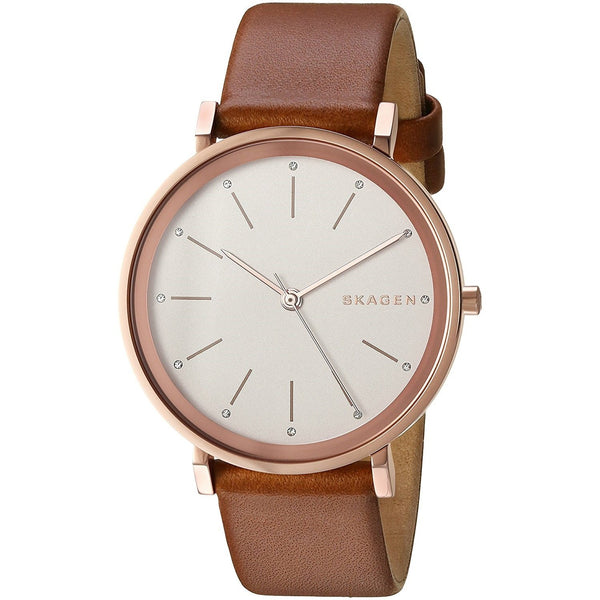 Skagen Women's SKW2488 'Hald' Crystal Brown Leather Watch