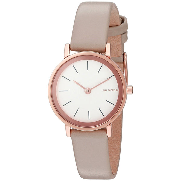 Skagen Women's SKW2494 'Hald' Beige Leather Watch