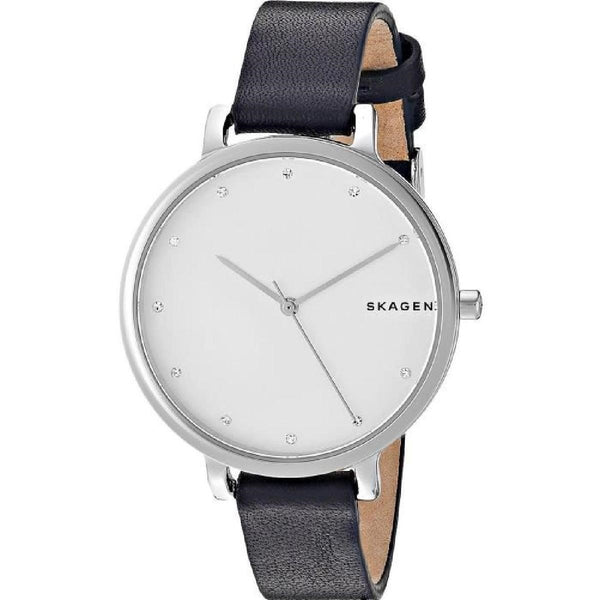Skagen Women's SKW2581 'Hagen' Crystal Blue Leather Watch