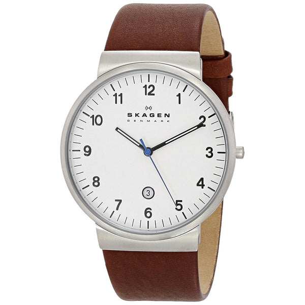 Skagen Men's SKW6082 'Ancher' Brown Leather Watch