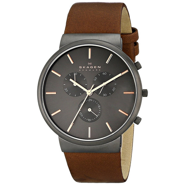 Skagen Men's SKW6106 'Ancher' Chronograph Brown Leather Watch