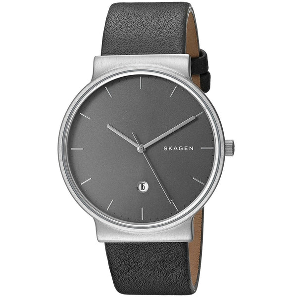 Skagen Men's SKW6320 'Ancher' Grey Leather Watch