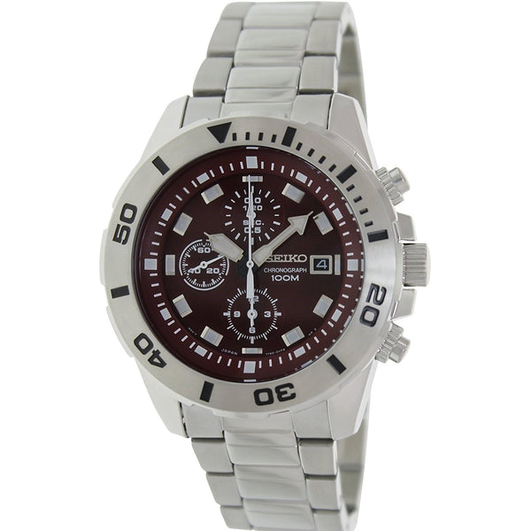 Seiko Men's SNDE15 'Classic' Chronograph Stainless Steel Watch