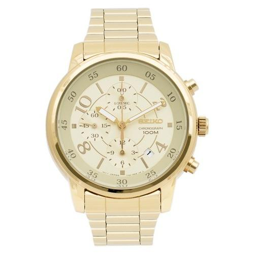 Seiko Women's SNDW84 'Chronograph' Gold-tone Stainless Steel Watch