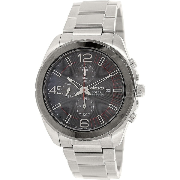 Seiko Men's SSC215 'Solar' Chronograph Stainless Steel Watch