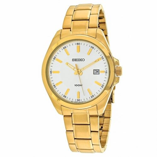 Seiko Men's SUR064P1 'Classic' Gold-tone Stainless Steel Watch