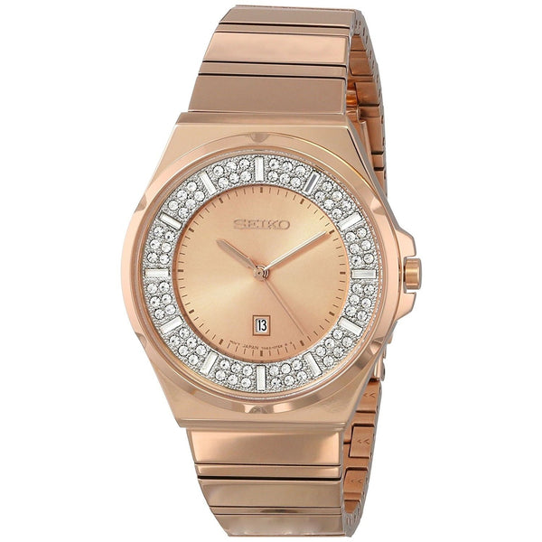 Seiko Women's SXDF74 'Classic' Rose-Tone Stainless Steel Watch