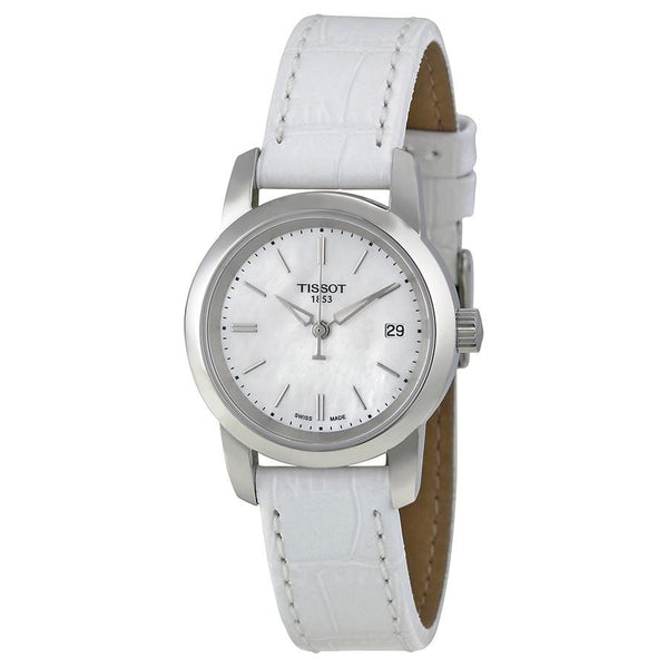 Tissot Women's T0332101611100 'T-Classic Dream' White Leather Watch