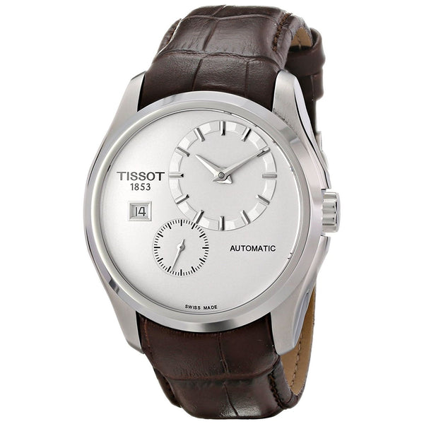 Tissot Men's T0354281603100 'Couturier' Automatic Brown Leather Watch
