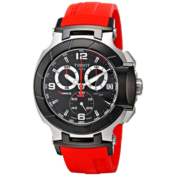 Tissot Men's T0484172705701 'T-Race' Chronograph Red Rubber Watch