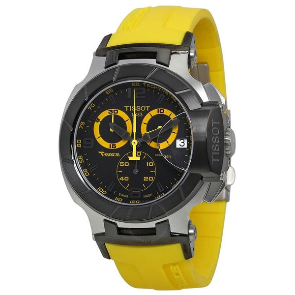 Tissot Men's T0484172705703 'T-Race Sport' Chronograph Yellow Rubber Watch