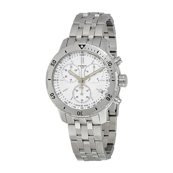 Tissot Men's T0674172203101 'PRS 200' Chronograph Stainless Steel Watch